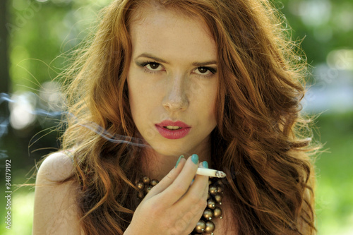 Lepota, obraz, dekle, na prostem, kajenje, Teen, Young - Nakup-3529