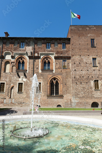 Abbiategrasso (Milan), castle Canvas Print