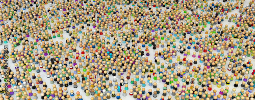 Fotografie, Obraz  Cartoon Crowd, Figure Field