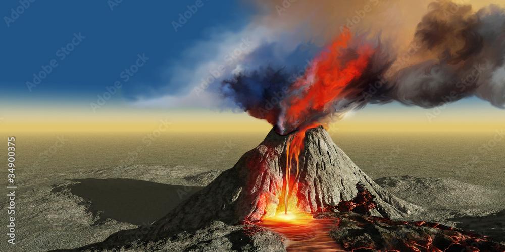 Fototapety, obrazy: Volcano Smoke