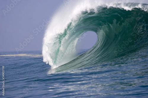 Foto auf Gartenposter Wasser wave breaking at Iquique in Chile 3
