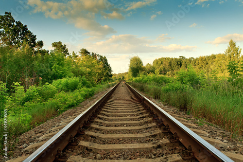 Canvas Prints Railroad Railroad track