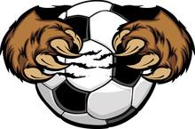 Soccer Ball With Bear Claws Ve...