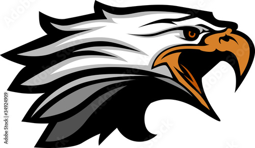 Fotografie, Tablou  Mascot Head of an Eagle Vector Illustration