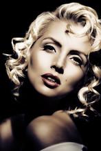 Marilyn Monroe Imitation. Retr...