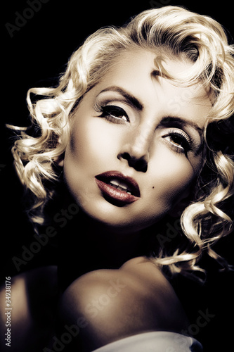 Photo  Marilyn Monroe imitation. Retro style