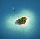 Paradise Island in the form of heart