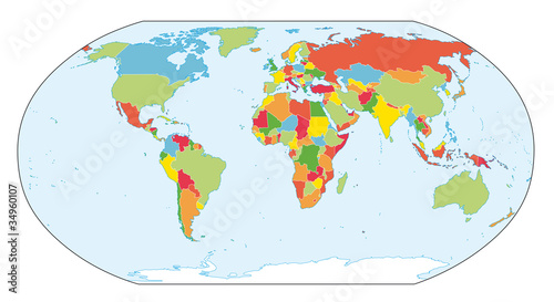 World map Actual new version with South Sudan Buy this stock