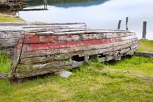 Rotten Wooden Row Boat