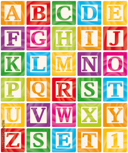 Photo Vector Baby Blocks Set 1 of 3 - Capital Letters Alphabet