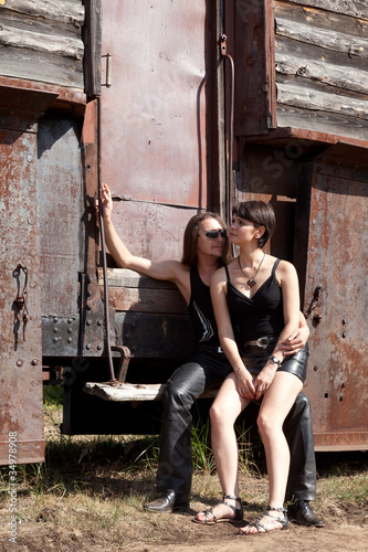 Fototapety, obrazy: Двое влюблённых.