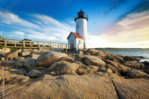 Photo  Annisquam lighthouse in Massachusetts
