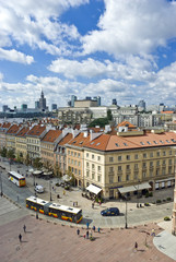 Fototapeta View on both old and new polish capitol, Warsaw