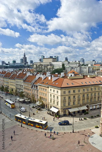 View on both old and new polish capitol, Warsaw - 34982998