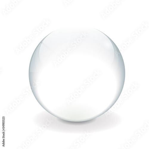 Staande foto Bol White vector crystal ball