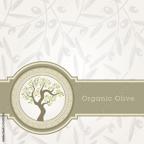 Fotografie, Obraz  Olive oil label template