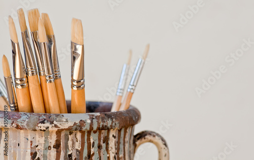 New paintbrushes Canvas Print