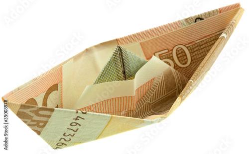 Origami Pliage Petit Bateau Billet 50 Euros Acheter Cette Photo Libre De Droit Et Decouvrir Des Images Similaires Sur Adobe Stock Adobe Stock
