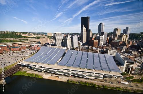 Fotografia, Obraz  Aerial Pittsburgh