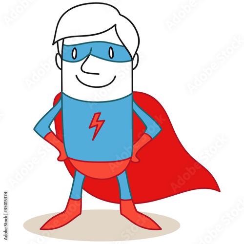 Staande foto Superheroes Superheld