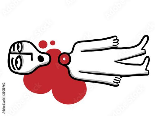 Valokuvatapetti beheaded man