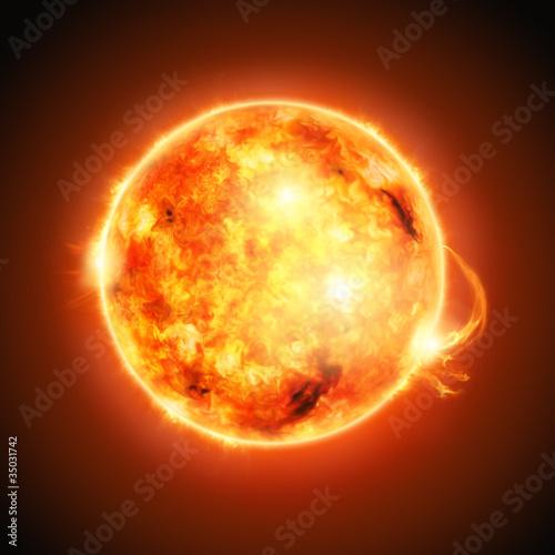 fototapeta na lodówkę Słońce