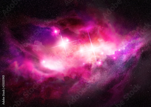 Spoed Foto op Canvas Heelal Space Nebula - Interstellar Cloud