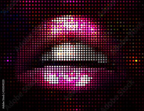 Vector Lips Illustration Poster