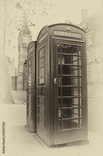 vintage-obraz-budek-telefonicznych-w-londynie-z-big-ben