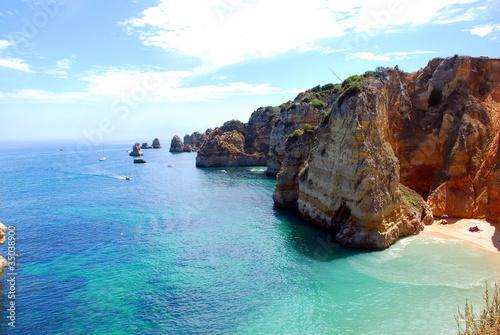 Fotografie, Obraz  Cliffs at the Dona Ana beach, Algarve coast in Portugal