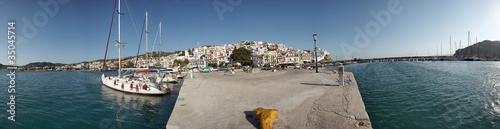 Recess Fitting Athens Skopelos, Greece - Panorama image taken from the mole