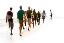 Blurred People Walking