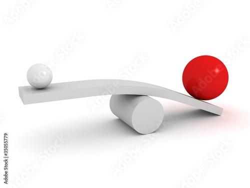 Fotografie, Obraz  Balance business concept