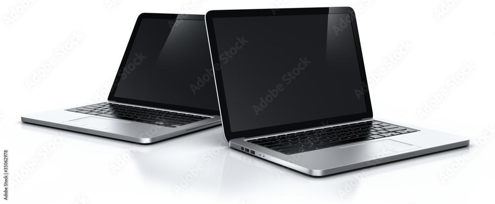 Fototapeta Two laptops