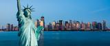 Fototapeta Nowy Jork - New York Manhattan statue de la Liberté