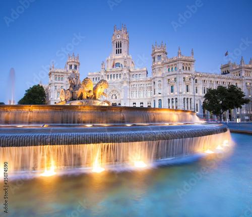 Spoed Fotobehang Madrid Plaza de Cibeles, Madrid, Spain.