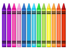 Crayons -Set Of Crayons Displa...