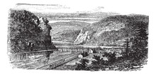 Harper's Ferry, West Virginia, United States Vintage Engraving