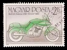 HUNGARY - CIRCA 1985: Suzuki Katana GSX 1100 Cm 1983