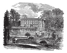 The Royal Botanic Garden And A View Of Museum No. 1 Vintage Engr