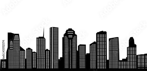 Deurstickers Rotterdam houston skyline