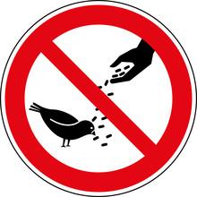Verbotsschild Vögel - Tauben ...