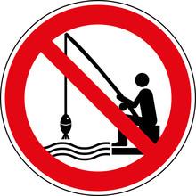 Verbotsschild Angeln - Fischen - Verboten Zeichen Symbol