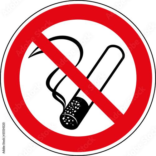 Foto op Plexiglas Rook Verbotsschild Rauchen verboten Zeichen Symbol Schild