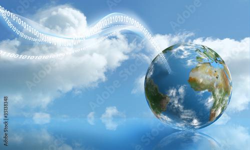 Plakaty ziemia cyfrowe-przyziemienia-z-przetwarzaniem-w-chmurze