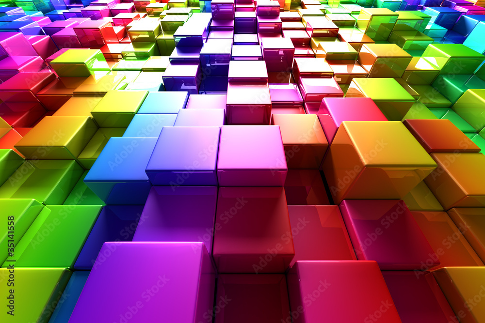 Fototapeta Colorful cubes