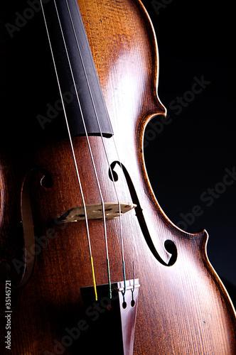 Fotografie, Obraz  Violin Viola Isolated On black
