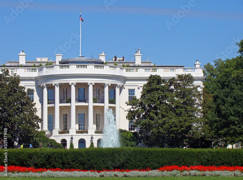 La Maison Blanche, Washington DC Tablou Canvas