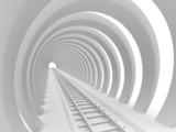 Fototapeta Fototapety przestrzenne i panoramiczne - Railway tunnel
