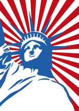 Freiheitsstatue Pop Art - USA Amerika Freiheit New York Poster